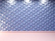 Fondo decorativo astratto della parete 3d, rappresentazione 3d Fotografia Stock
