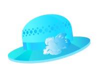Fondo azul del vector del sombrero Fotos de archivo libres de regalías
