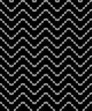 Fondo decorativo blanco y negro inconsútil con formas geométricas Imagen de archivo libre de regalías