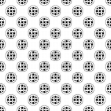 Fondo decorativo blanco y negro inconsútil con las figuras abstractas Imagenes de archivo