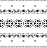 Fondo decorativo blanco y negro inconsútil con las figuras abstractas Foto de archivo libre de regalías