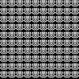 Fondo decorativo blanco y negro inconsútil con las figuras abstractas Fotos de archivo libres de regalías