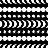 Fondo decorativo blanco y negro inconsútil con las figuras abstractas Fotografía de archivo