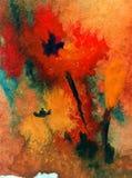 Fondo decorativo coloreado brillante abstracto Estampado de flores hecho a mano Flores mágicas románticas blandas hermosas ilustración del vector
