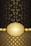Fondo decorativo con il nastro dell'oro e della struttura Fotografia Stock Libera da Diritti