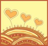 Fondo decorativo con los corazones Imágenes de archivo libres de regalías