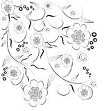 Fondo decorativo de la flor de Beautifull Fotos de archivo