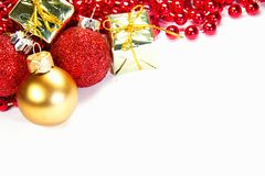 Fondo decorativo de la Navidad Fotos de archivo