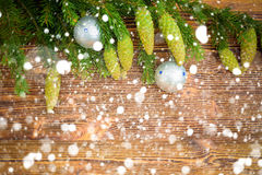 Fondo decorativo de la Navidad Fotografía de archivo libre de regalías