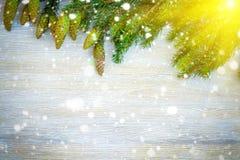 Fondo decorativo de la Navidad Foto de archivo libre de regalías