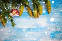 Fondo decorativo de la Navidad Imagen de archivo libre de regalías