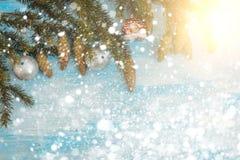Fondo decorativo de la Navidad Imagen de archivo