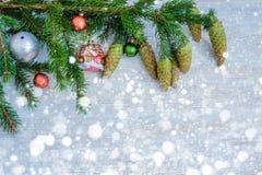 Fondo decorativo de la Navidad Foto de archivo