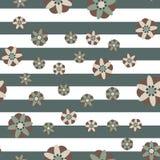 Fondo decorativo de la raya de las flores Imagen de archivo libre de regalías