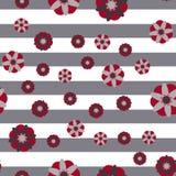 Fondo decorativo de la raya de las flores Imagen de archivo