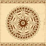 Fondo decorativo de la tarjeta del círculo Fotos de archivo libres de regalías