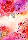 Fondo decorativo de las rosas Imagenes de archivo