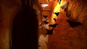 Fondo decorativo de los palos para las decoraciones de Halloween almacen de video