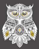 Fondo decorativo del búho ilustración del vector
