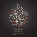 Fondo decorativo del icono de la Navidad libre illustration