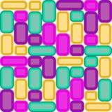 Fondo decorativo del mosaico di vetro luminoso multicolore illustrazione di stock