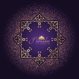 Fondo decorativo del Ramadan con i coriandoli Fotografie Stock