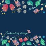 Fondo decorativo del vector con diseño del bordado y lugar para el texto libre illustration