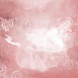 Fondo decorativo dell'acquerello rosa e bianco Fotografia Stock Libera da Diritti