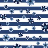 Fondo decorativo della banda dei fiori Fotografie Stock Libere da Diritti