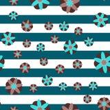 Fondo decorativo della banda dei fiori Fotografia Stock