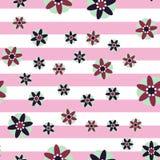 Fondo decorativo della banda dei fiori Fotografia Stock Libera da Diritti