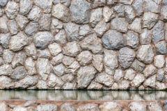 Fondo decorativo della parete della roccia autentica immagini stock