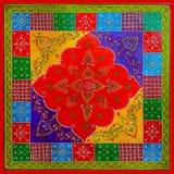 Fondo decorativo festivo del estilo indio colorido Imagenes de archivo