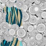 Fondo decorativo floreale astratto di vettore. Illustrazione Vettoriale