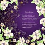 Fondo decorativo floreale di vettore. Illustrazione Vettoriale