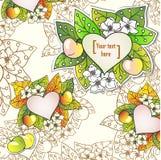 Fondo decorativo floreale di vettore con le mele. Royalty Illustrazione gratis