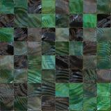 Fondo decorativo nero e verde delle tessere Fotografie Stock Libere da Diritti