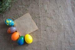 Fondo decorativo per Pasqua Fotografie Stock