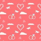 Fondo decorativo romantico senza cuciture del modello di nozze Fotografia Stock