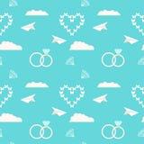 Fondo decorativo romantico senza cuciture del modello di nozze Fotografie Stock Libere da Diritti