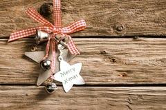 Fondo decorativo rustico di Natale Fotografia Stock