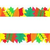 Fondo decorato con le foglie di autunno variopinte Immagini Stock Libere da Diritti