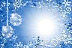 Fondo decorato di natale con le palle dell'albero di Natale illustrazione vettoriale