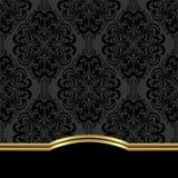 Fondo decorato elegante con il confine per progettazione Fotografia Stock