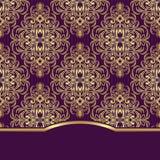 Fondo decorato elegante con il confine per progettazione dell'invito Fotografia Stock