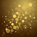 Fondo Defocused de la Navidad del extracto del oro Foto de archivo libre de regalías