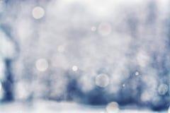 Fondo Defocused de la nieve que cae - Bokeh Fotografía de archivo libre de regalías