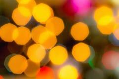 Fondo Defocused de las luces de la Navidad Foto de archivo