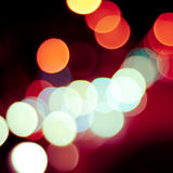 Fondo Defocused degli indicatori luminosi Fotografia Stock