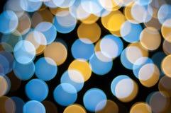 Fondo Defocused degli indicatori luminosi di Natale Immagine Stock Libera da Diritti